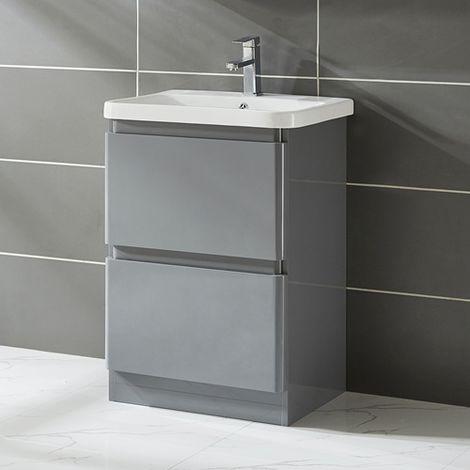 WestWood Vanity Unit 60CM MDF Floor Standing VU03 Grey