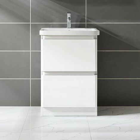 WestWood Vanity Unit 60CM MDF Floor Standing VU03 White