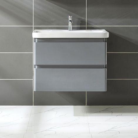 WestWood Vanity Unit 80CM MDF Wall VU02 Grey