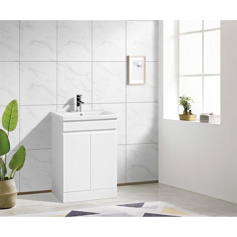 WestWood Vanity Unit MDF Floor Standing VU05 White