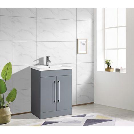 WestWood Vanity Unit MDF Floor Standing VU06 Grey