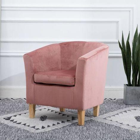 "main image of ""WestWood Velvet Tub Chair TC12 Pink"""