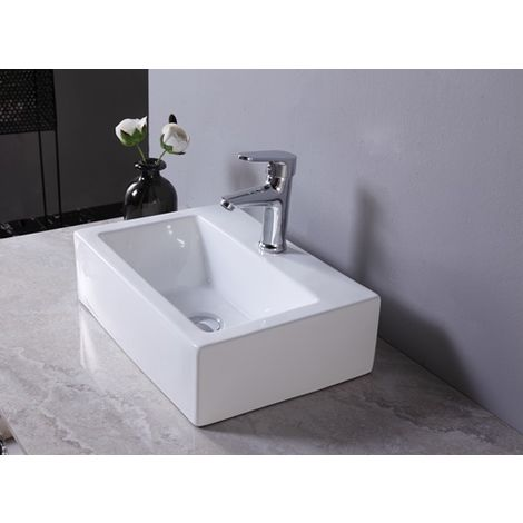 WestWood Wash Basin Sink Countertop WW-WBS02 White