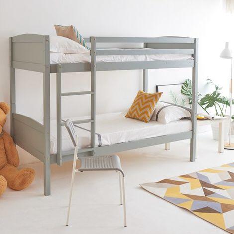WestWood Wooden Bunk Bed Single No Mattress Grey