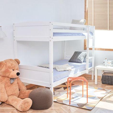WestWood Wooden Bunk Bed Single No Mattress White