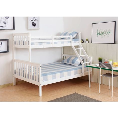 WestWood Wooden Bunk Bed Triple No Mattress White