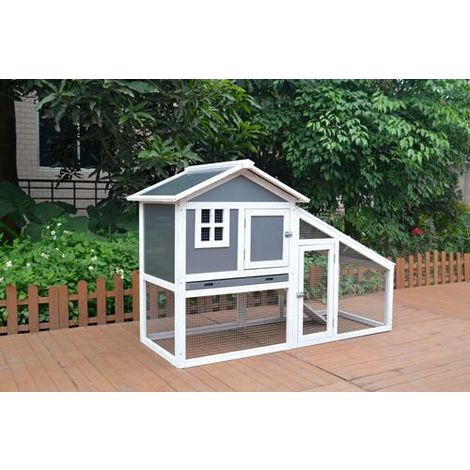 WestWood Wooden Pet Hutch WPH01 Grey White