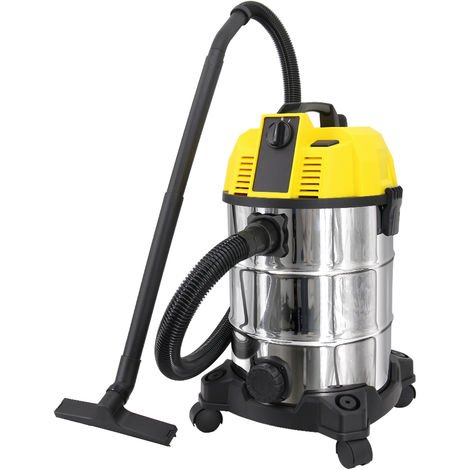 Wet and Dry Vacuum Cleaner, Self-Cleaning & Blowing Vac Cleaners 18KPa Suction 4 in 1 30L Capacity Floor Brush and Crevice Tool Included 1600W