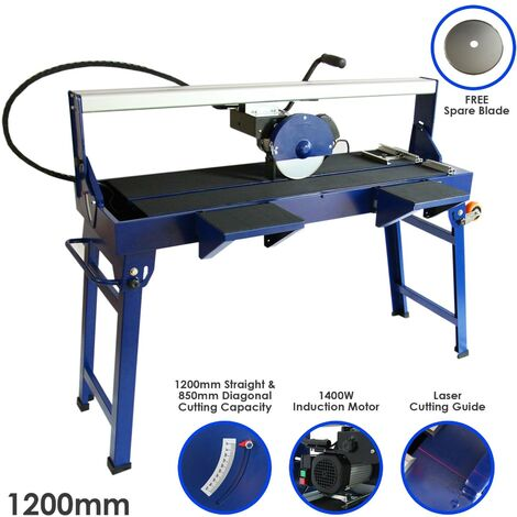 """main image of """"Wet Saw Tile Cutter Stand Bench Bridge Table Electric Frame Diamond Blade Cutting 1200mm 1400W"""""""