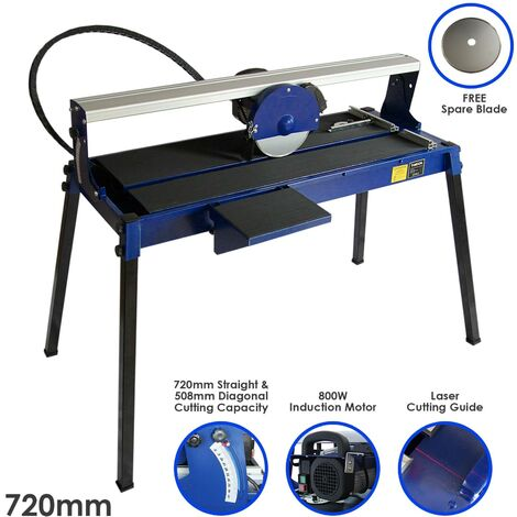"""main image of """"Wet Saw Tile Cutter Stand Bench Bridge Table Electric Frame Diamond Blade Cutting 720mm 800W"""""""