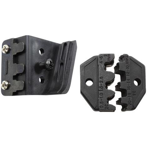 Wetec Crimpeinsatz, nicht isolierte Kabelschuhe 0,5-6 mm² mit Positionierhilfe