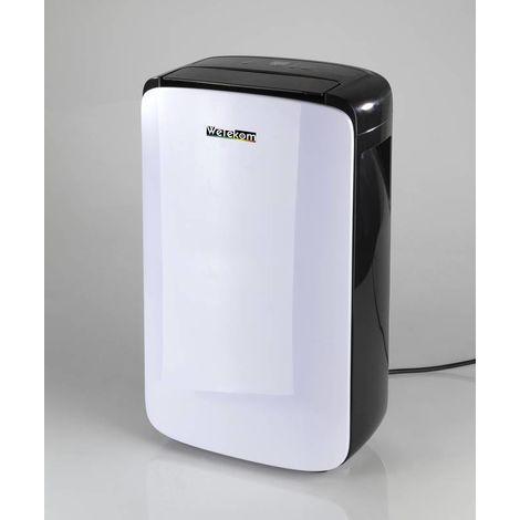Wetekom Déshumidificateur 200 watt, unité autonome à roulettes pour des pièces jusqu'à 20 m² (volume d'air 100 m³ / h)
