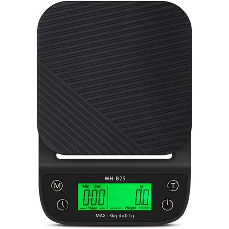 WH-B25 LCD High Definition Display LED Green Backlight Hand-made Coffee Electronic Scale