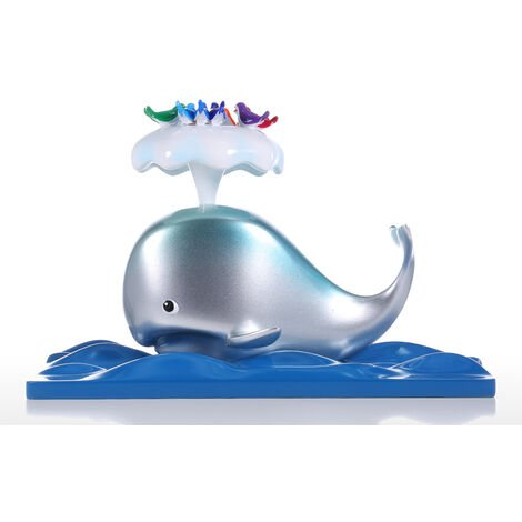 Whale & Bird Resin Sculpture Animal Statue