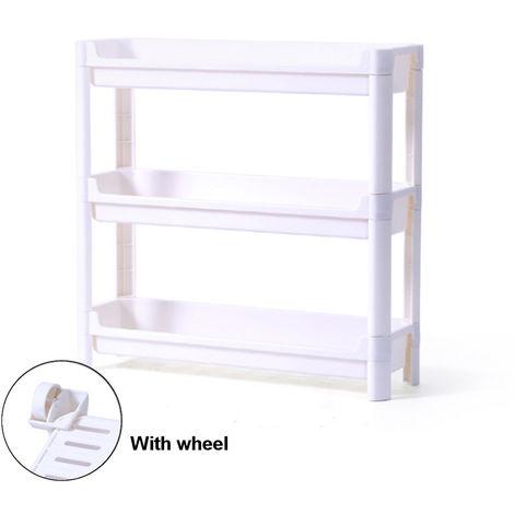 Wheeled Trolley Shelves Kitchen Storage Shelf for Vegetables Storage with 4 Wheels Sasicare