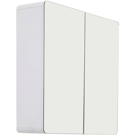 While Reflecting Style Multi-functional Mirrored Adelphi Bathroom cabinet