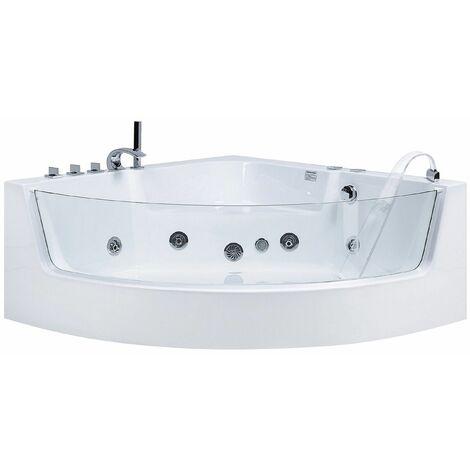 Whirlpool-Badewanne Eckmodell mit LED MARINA