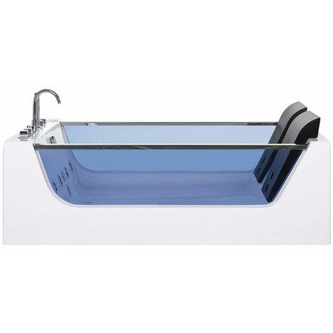 Moderne Whirlpool-Badewanne für 2 Personen mit Farblichttherapie Sichtfenster Curacao