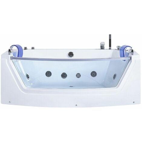 Moderne Whirlpool-Badewanne mit Farblichttherapie Wasserfall Sichtfenster Fuerte