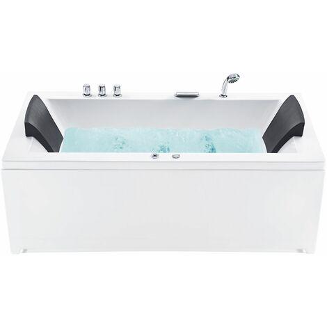Whirlpool-Badewanne rechts weiss VARADERO - 11447