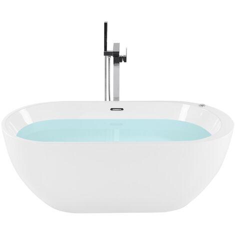 Whirlpool-Badewanne Sanitäracryl Weiß Modern