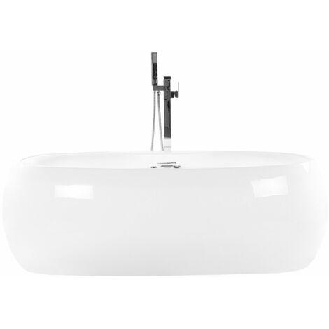 Whirlpool Badewanne Weiß Acryl Freistehend Wasser Jets Luxus Stil Badezimmer