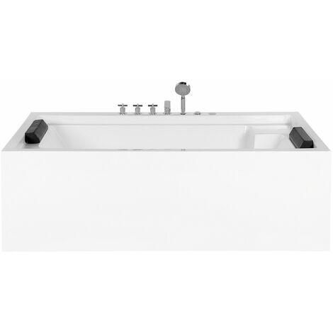 Whirlpool-Badewanne Weiß Acryl Rechteckig 110x180 cm Modern Minimalistisch