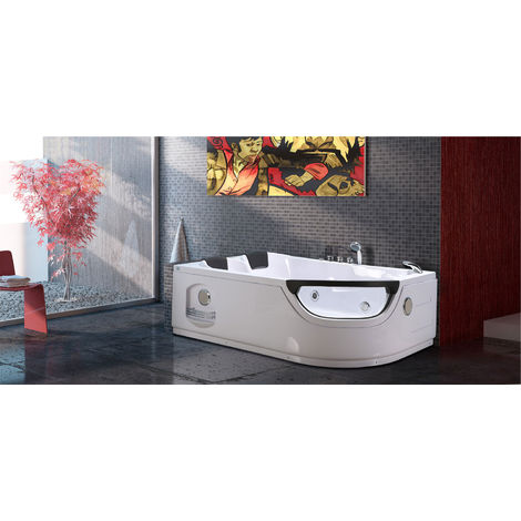 WHIRLPOOL BATH CHROMOTHERAPY Model LUNA 120 x 180 cm