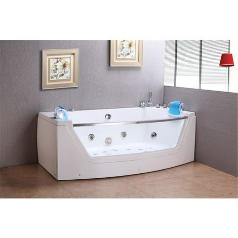 WHIRLPOOL BATH CHROMOTHERAPY Model PRIVILEGE 180 x 90 cm (h 60 cm)