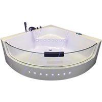 "WHIRLPOOL BATH CHROMOTHERAPY Model ""WHITE SHARK"" 140 X 140 cm"