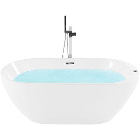 Whirlpool Bath Hot Tub Spa Free Standing Jets White Nevis