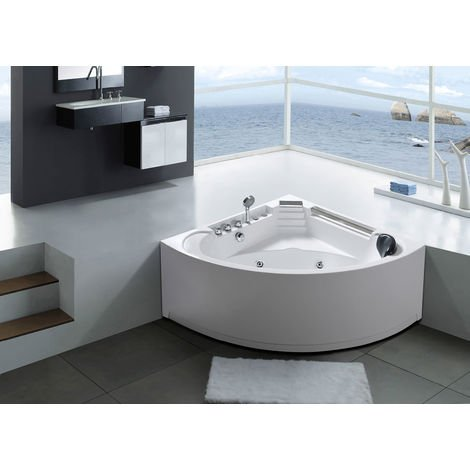WHIRLPOOL BATH TUB Daisy 135x135cm white for 1 person