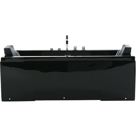 Whirlpool Bath with LED Black GALLEY