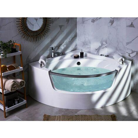 Whirlpool Bath with LED White 150 cm MANGLE