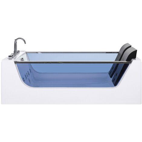 Whirlpool Bath with LED White CURACAO