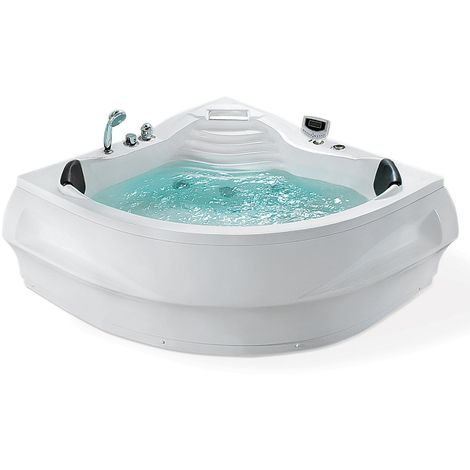 Whirlpool Corner Bath with LED White MONACO II