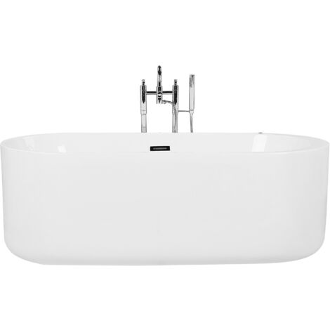 Whirlpool Freestanding Bath with LED White VINALES
