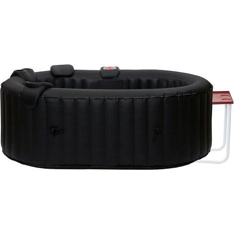 Whirlpool HHG-351, 2 Personen In-/Outdoor heizbar aufblasbar inkl. Tisch 190x120cm FI-Schalter + Zubehör
