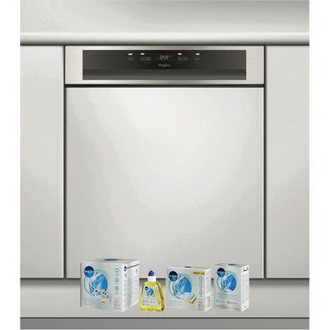 WHIRLPOOL Lave-vaisselle intégrable encastrable bandeau inox 43dB 14 converts 60cm Natural Dry - Inox