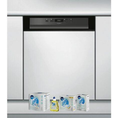 WHIRLPOOL Lave-vaisselle Intégrable encastrable bandeau noir 44dB 14 converts 60cm Natural Dry - Noir