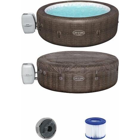Whirlpool Lay-Z-Spa™ St.Moritz AirJet™Aufblasbar | 140 AirJets | 1190L | Massage Indoor Outdoor Pool Filterpumpe Heizung 216x71cm