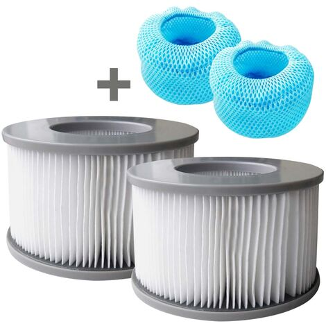 Whirlpool MSpa Filter 2er Set inkl. Netzabdeckung