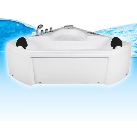 Whirlpool Pool Badewanne Eckwanne Wanne A1402R-ALL 135x135 + Reinigungsfunktion