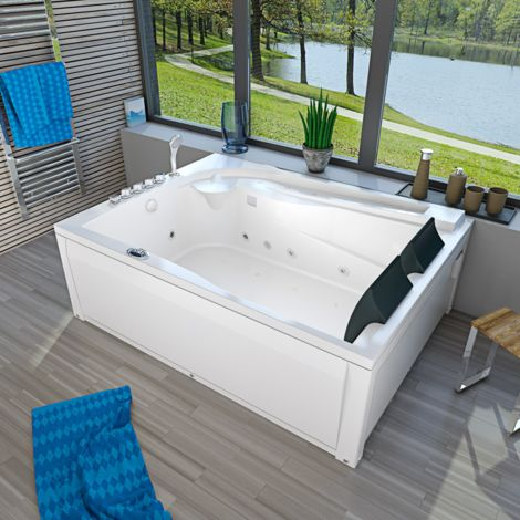 Whirlpool Pool Badewanne Eckwanne Wanne A612H-B Reinigungsfunktion 180x135