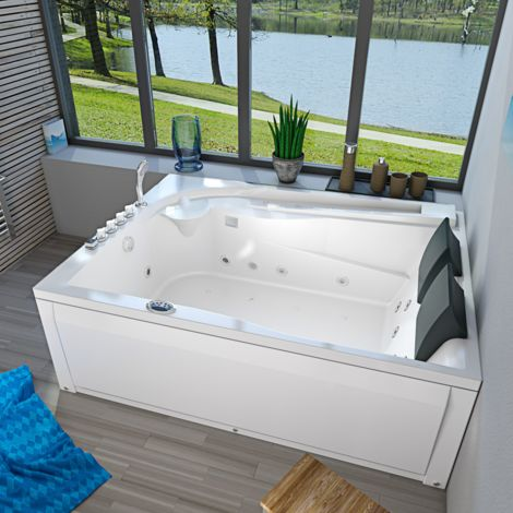 Whirlpool Pool Badewanne Eckwanne Wanne A612H-C Reinigungsfunktion 180x135
