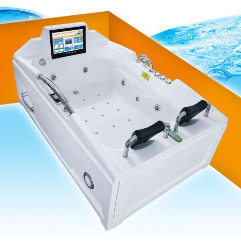 Whirlpool Vollausstattung Pool Wanne Eckwanne mit TV A2118R 120x188cm