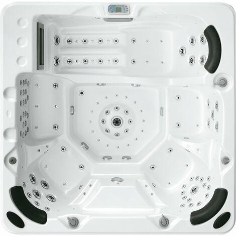 Whirpool Donau Spa für 6 Personen Pool LED Beleuchtung Massage 3 kW Donau-80710-Weiss