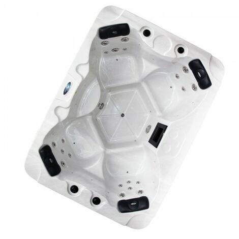 Whirpool Leitha Spa für 4 Personen Pool LED Beleuchtung Massage 2 kW Leitha-80705-Schwarz