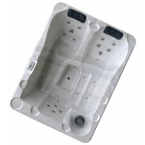 Whirpool Rhein Spa für 3 Personen Pool LED Beleuchtung Massage 2 kW Rhein-80703-Weiss