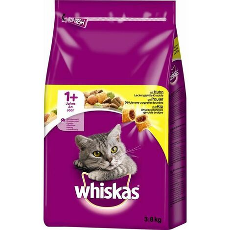 Whiskas 1+ Cat Complete Dry with Chicken 3,8kg (242556)